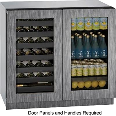 "U-Line U3036BVWCINT00B 36"" Built-in Beverage Center and Wine Storage, Integrated"