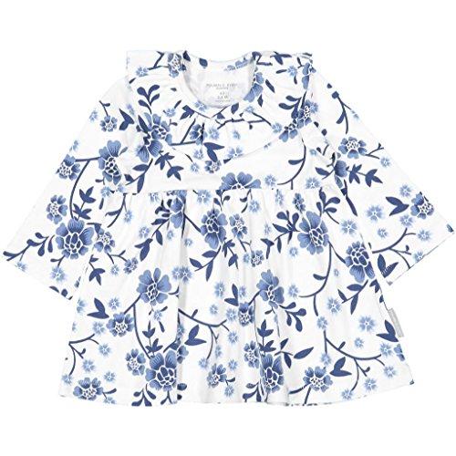 Polarn O. Pyret Blue Willow ECO Dress (Newborn) - 1-2 Months/Snow White