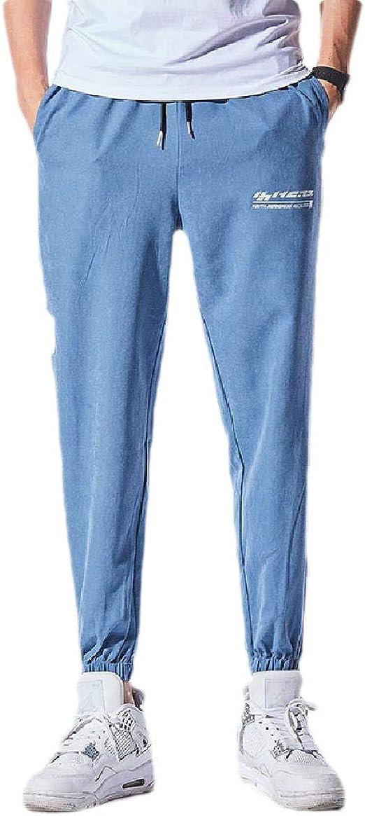 Kankanluck 男性リラックスフィットドローストリングアスレチックフィットポケットミッドウエストトレーニングパンツ