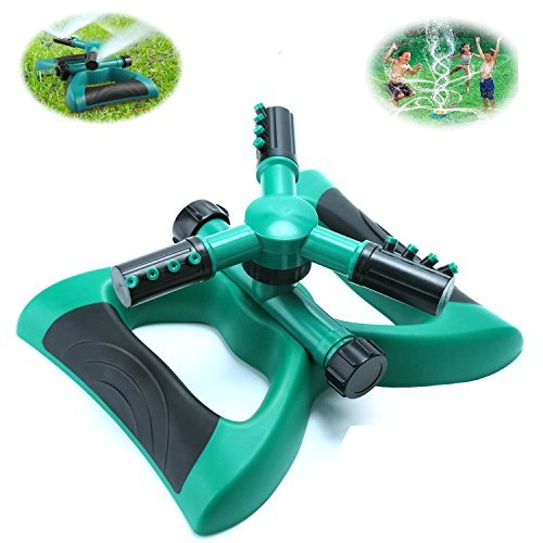 Lawn Sprinkler, Automatic 360 Rotating Adjustable Garden Sprinkler Garden Water Sprinkler with 3600 SQ FT Coverage Premium Quality Lawn Irrigation System (Bunch Of Female Dogs And Garden Tools)