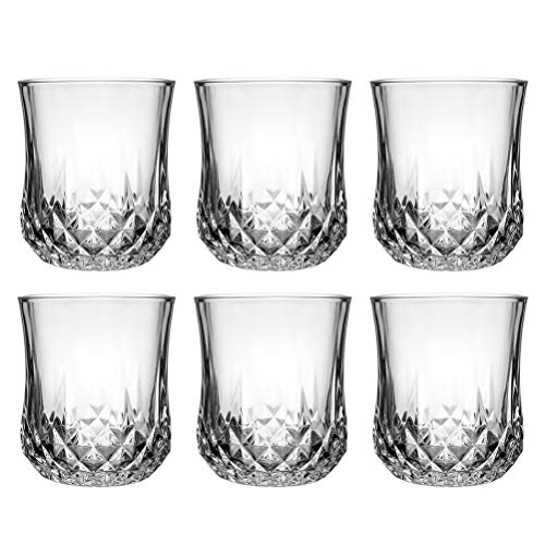 - Tebery Whiskey Glass Set of 6 Old Fashioned Lead Free Crystal Liquor or Scotch Glasses