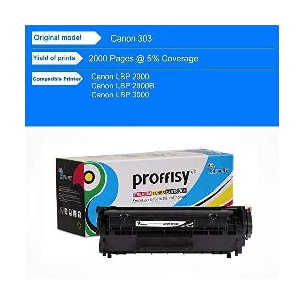 proffisy 303 for Canon 303/703 / 103 CRG 303 Toner Cartridge for Canon LBP 2900, LBP 2900B,LBP 3000 (1 pcs)