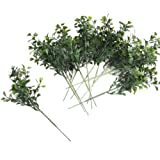 """Factory Direct Craft Package of 12 Traditional 8"""" Boxwood Artificial Greenery Picks"""