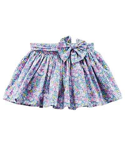 Carter's Girls' 2T-8 Floral Skirt with Bow 5T -