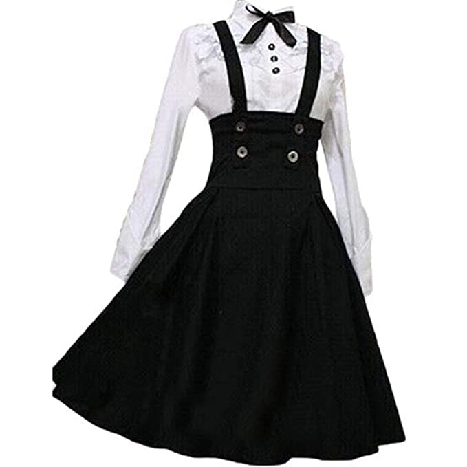 Amazon.com: Loli Miss - Vestido clásico de manga larga para ...