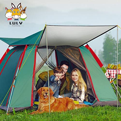 Pop Up Tent Protecci/ón UV 3-5 Personas Tienda de campa/ña Anti UV a Prueba de Viento Impermeable Deportes Camping Senderismo Travel Carpa port/átil para la Familia