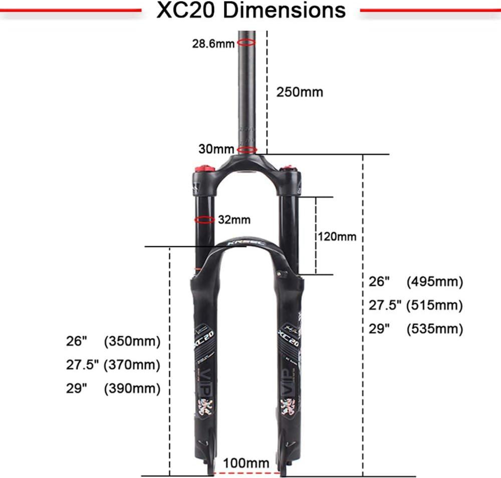 "LUTU 26//27.5//29/"" MTB Bike Air Suspension Fork 1-1//8/"" Disc Brake 120mm Travel"