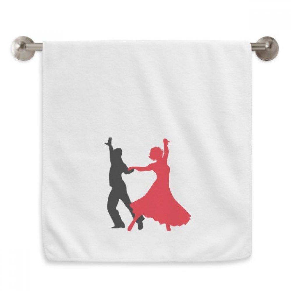 DIYthinker Duet Dance Social Dancing Dancer Circlet White Towels Soft Towel Washcloth 13x29 Inch
