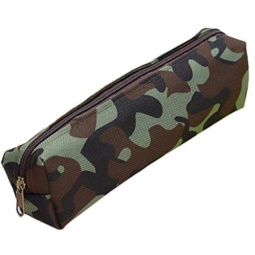 1/2' Clear Holder - Gbell Boys Girls Camouflage Pencil Case,Mini Pouch Purse Pen Bag Trendy,Kids School Supplies (C)