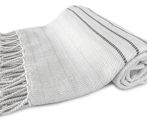 ZesteDesign Genuine Premium Turkish Cotton Bamboo Bath Towel for Pool Spa Yoga Massage (Ivory/Smoke, 37x75 (Ivory Pool)