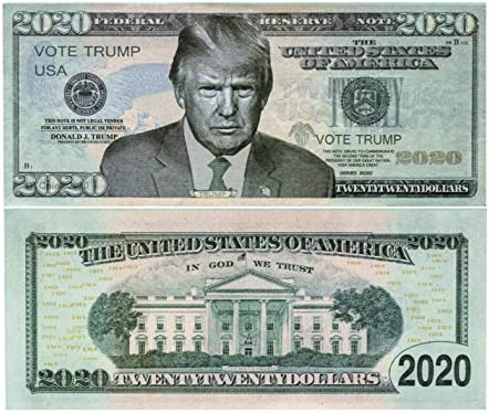 100-pack of Trump 2020 Re-Election Presidential Novelty Dollar Bills FREE SHIP