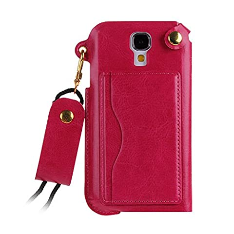 Case for Samsung Galaxy S4,Leather Case for Samsung Galaxy i9500,IKASEFU(TM) Luxury Slim PU Leather Simple Stand Skin Carrying Protective Case with Credit Card Holder for Samsung Galaxy S4 i9500(Hot (Galaxy S4 Cases With Card Holder)
