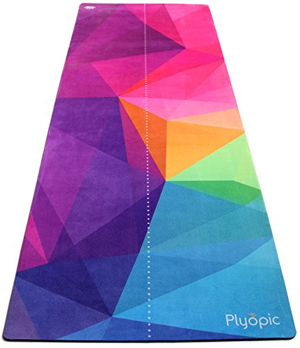 Plyopic All-In-One Yoga Mat | Luxury Non-Slip Mat/Towel Combo | Natural and Eco-Friendly | Best for...