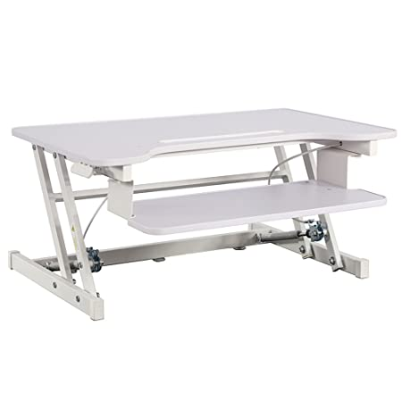 Adjustable Height Standing Desk,Stand Up Desk Sit Stand Desk with Keyboard Tray