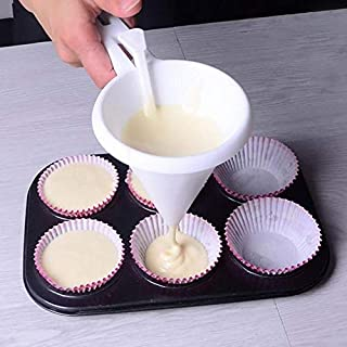 KOSIMI Kitchen DIY Convenient Chocolate Candy Icing Funnel Mold Cream Batter Dispenser Funnels