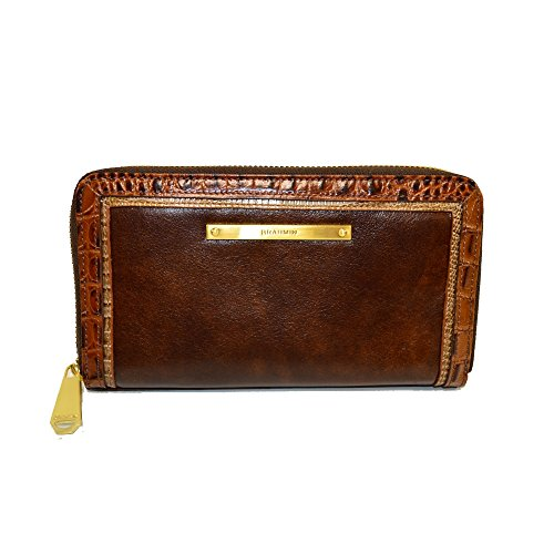 Brahmin Suri Zip Clutch Wallet Brown Concerto Leather G37 1096 by Brahmin
