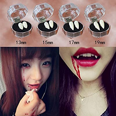 Bren SL Cosplay Fake Dentures Vampire Teeth Ghost Teeth Adhesive Devil Fangs Costume Halloween Party 13mm: Toys & Games