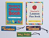Teacher Grade Lesson Plan Book Teaching School Planner Student Hall Passes Classroom Homeschool Supplies Gifts 5 Piece Set …