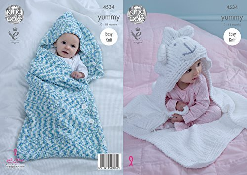 King Cole Baby Knitting Pattern Easy Knit Cocoon