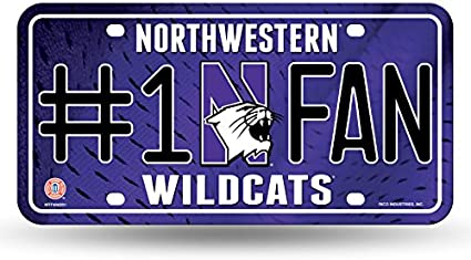 Rico NCAA #1 Fan Metal Tag License Plate