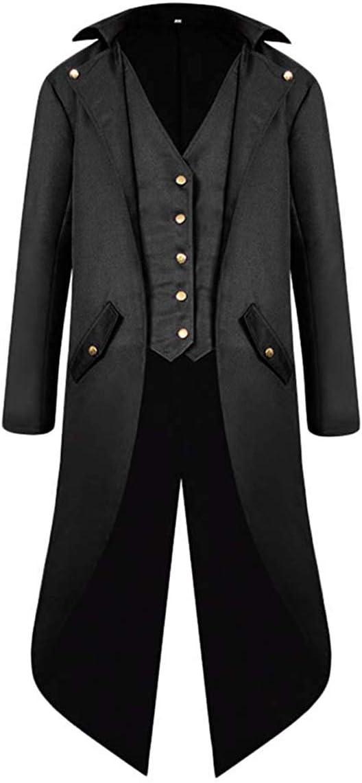 Vintage Style Menswear UK 1920s, 1930s, 1940s, 1950s, 1960s, 1970s VERNASSA Mens Steampunk Vintage Tailcoat Jacket Gothic Victorian Medieval Halloween Costume Coat £23.99 AT vintagedancer.com