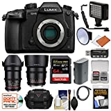Panasonic Lumix DC-GH5 Wi-Fi 4K Digital Camera Body with 35mm & 85mm T/1.5 Lenses + 64GB Card + Case + Video Light + Battery Kit For Sale