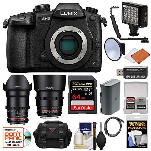 Panasonic Lumix DC-GH5 Wi-Fi 4K Digital Camera Body with 35m