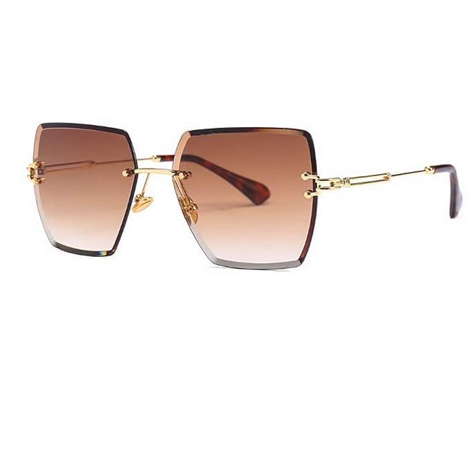 Amazon.com: Gafas de sol sin borde para mujer, cuadradas ...