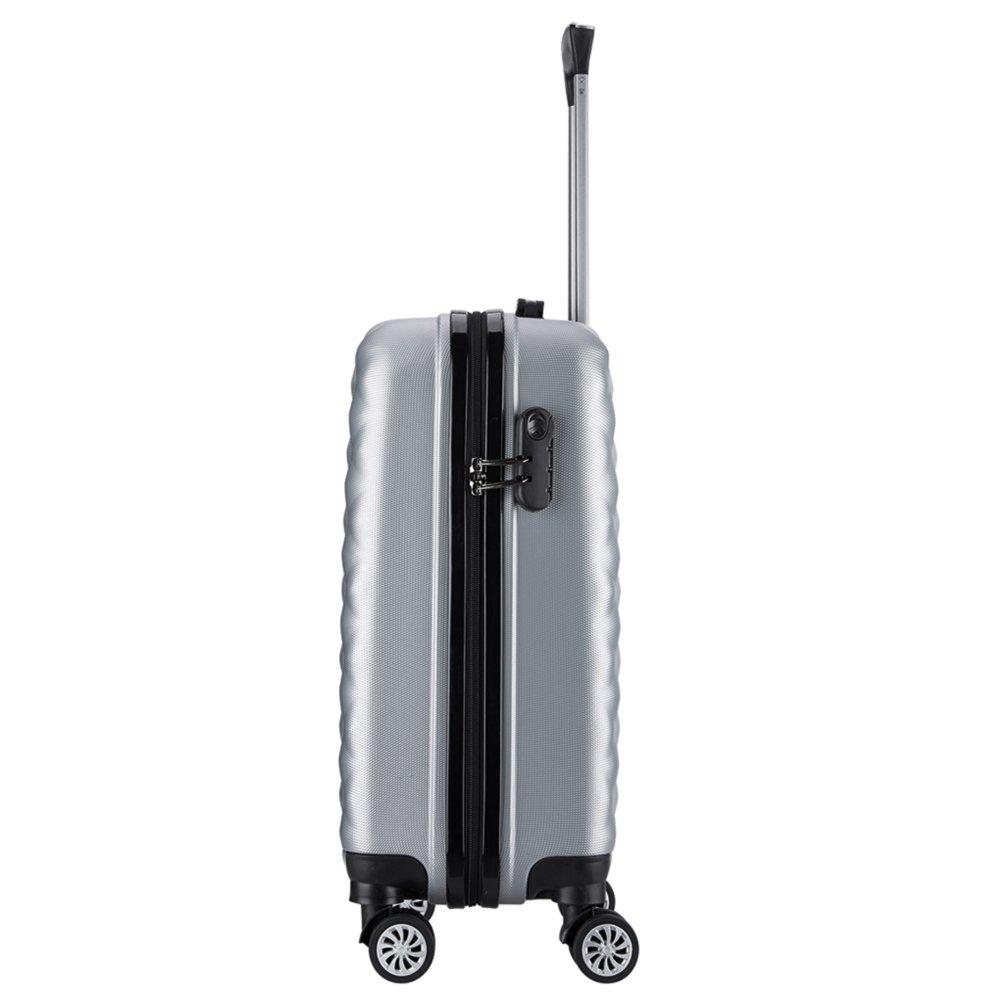 Lot de 3 valises 20068//3Valigo Paris ABS Argent