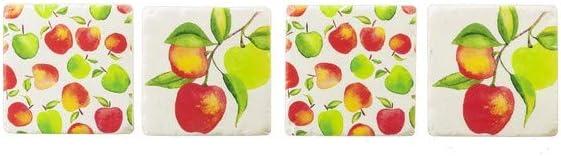 Ganz CB173595 Apple Coaster, Set of 4