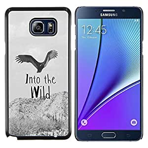 Dragon Case - FOR Samsung Note 5 N9200 N920 - Into the wild - Caja protectora de pl??stico duro de la cubierta Dise?¡Ào Slim Fit
