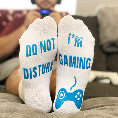 Do-Not-Disturb-Im-Gaming-Funny-Socks-Great-Novelty-Gift-For-Gamers-Who-Have-Everything-Ankle-Lounge-Socks
