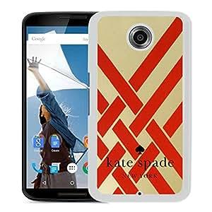 New Fashion Custom Designed Kate Spade Cover Case For Google Nexus 6 White Phone Case 95