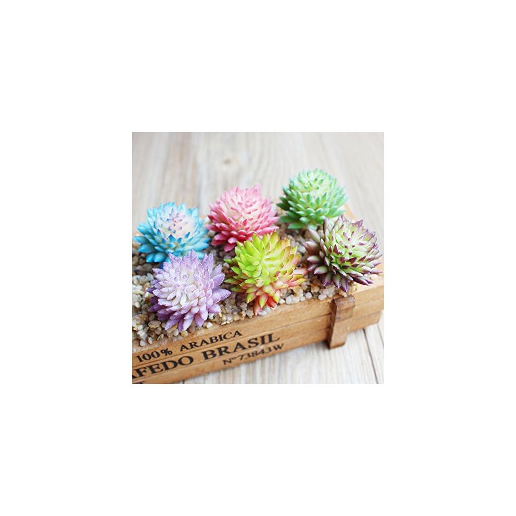 DLOnline-6-Pcs-Artificial-Succulent-Plants-Fake-Succulents-Faux-Succulent-in-Different-Color-Faux-Succulent-Artificial-Flowers-for-Home-Decoraction-and-Wedding-Centerpieces