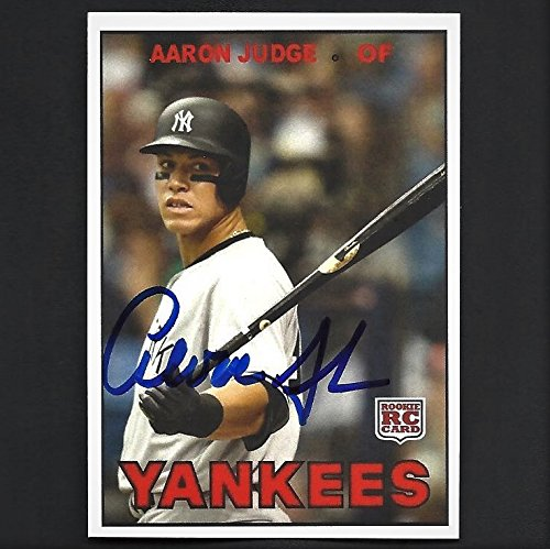 Aaron Judge autograph signed 2017 Topps rookie card #9 Yankees Nice! - Nice Autograph