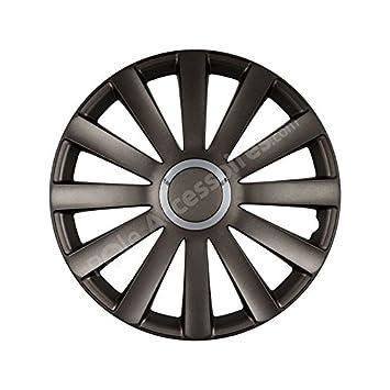 Lote de 4 Tapacubos para ruedas de 17 pulgadas, diseño de Audi SPYDER: Amazon.es: Coche y moto