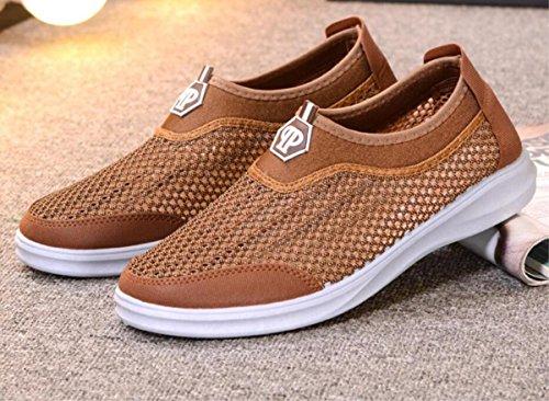 Mens nueva moda cómoda de la red deportiva zapatos respirables ocasionales ligero al aire libre unisex calzado deportivo 1