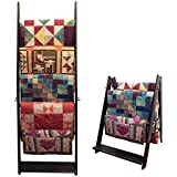 The LadderRack 2-in-1 Quilt Display Rack (5 Rung/24 Model/Weathered Black)