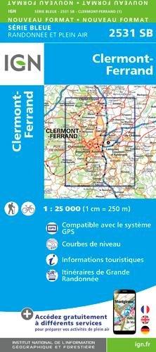 2531SB CLERMONT-FERRAND Carte – Carte pliée, 27 février 2017 Collectif IGN 275853925X Karten / Stadtpläne / Europa