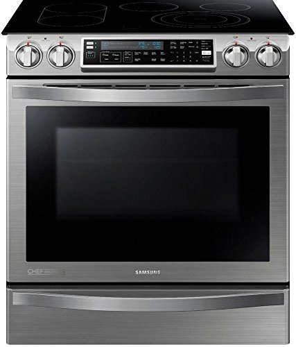 SAMSUNG NE58H9970WS Slide-In Induction Range, 30-Inch, Stainless Steel