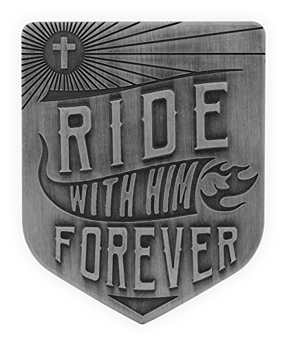- AngelStar Ride with Him Forever Guardian Eagle Scripture Visor Clip, Pewter