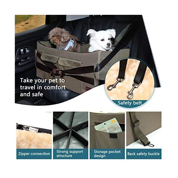 51yzSMbeb5L Petsfit Haustier - Autositz mit Sicherheitsgurt - Sicherheit und Komfort für Reisen - Maschinenwaschbare…