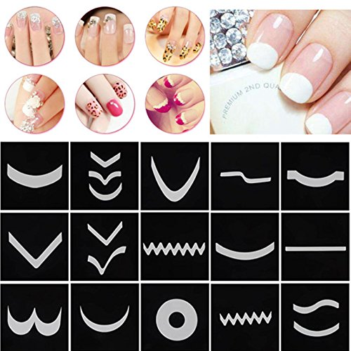 CCbeauty French Nail Stickers Nail Art DIY French