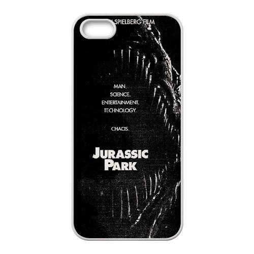 J6N35 Jurassic Park T5M6QE coque iPhone 5 5s cellulaire cas de téléphone de couverture coque WY4YZC5QS blancs