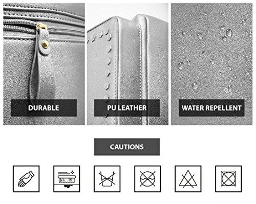 Beariky Metallic Leather Backpack for Women - Stylish Fashion Square ... 185e52b2a4