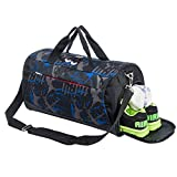 Kyпить Sports Gym Bag with Shoes Compartment Travel Duffel Bag for Men and Women (light blue) на Amazon.com