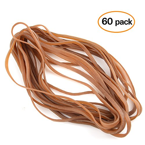 Coopay 60 Pieces Large Rubber Bands Trash Can Band Set Elastic Bands for Office Supply, Trash Can, File Folders, Cat Litter Box, Size 8 (Jumbo Rubber Bands)
