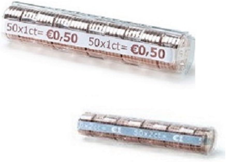 Wateralone 250 tasche portamonete per collezionisti di monete pu/ò contenere monete da 50 e 0,5 kg nero