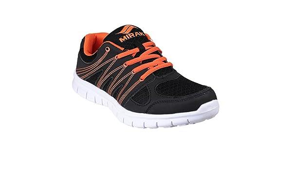 Mirak - Zapatillas deportivas Modelo Milos hombre caballero (44 EU/Negro/Naranja)
