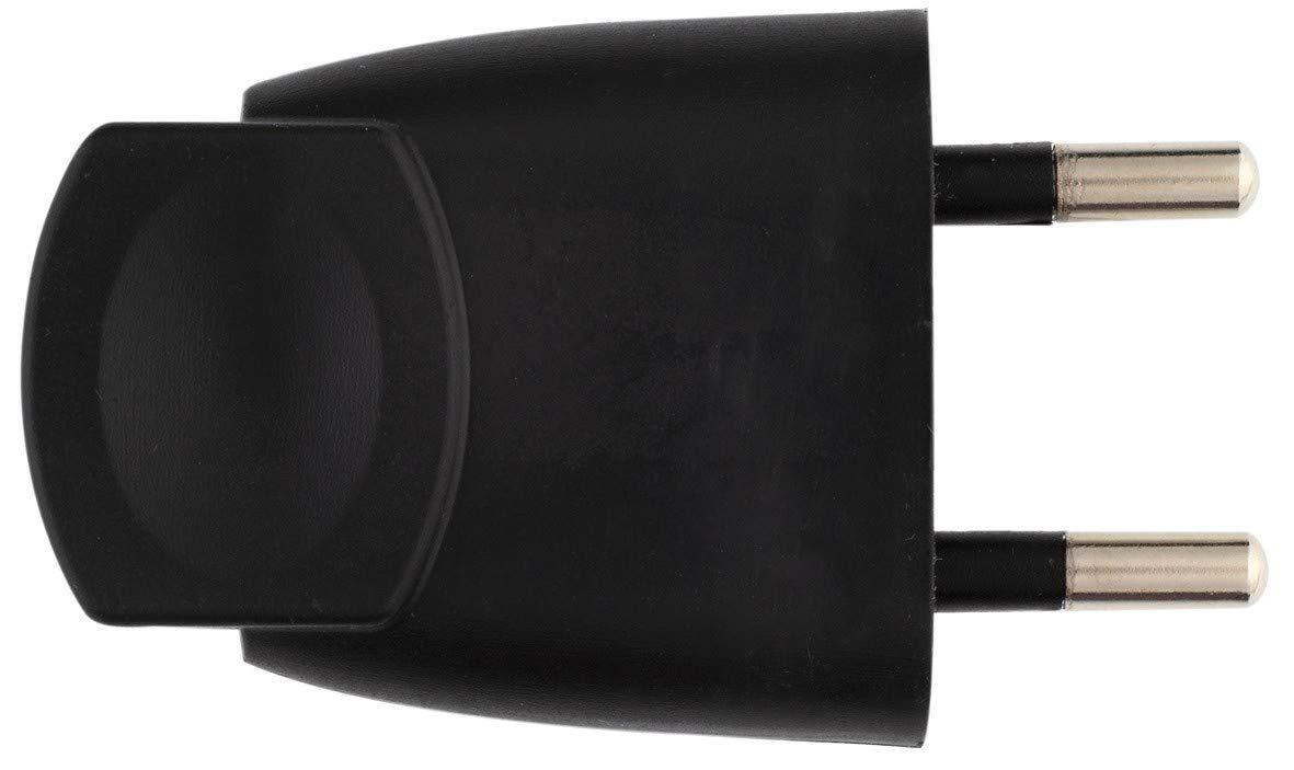 2P m/âle Dhome Fiche plastique noire